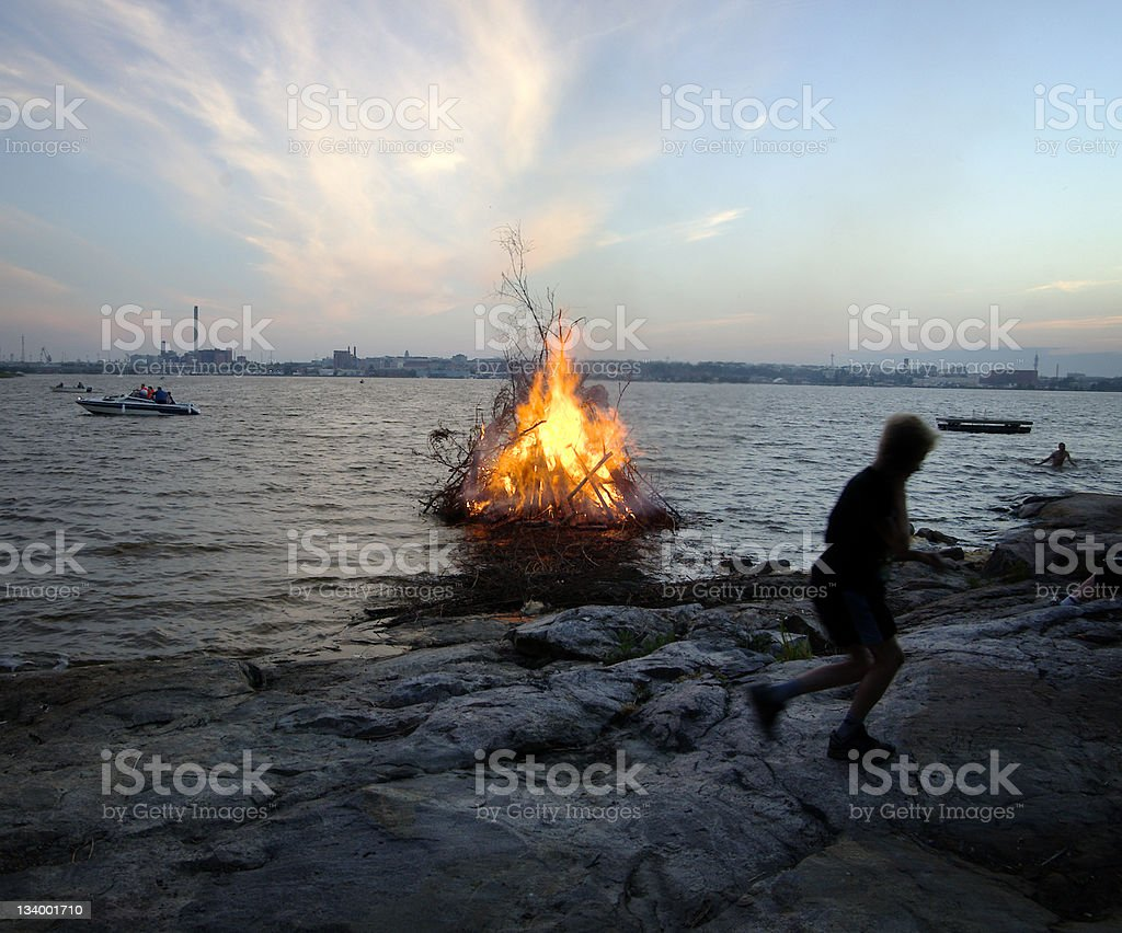 Midsummer Helsinki Finland stock photo