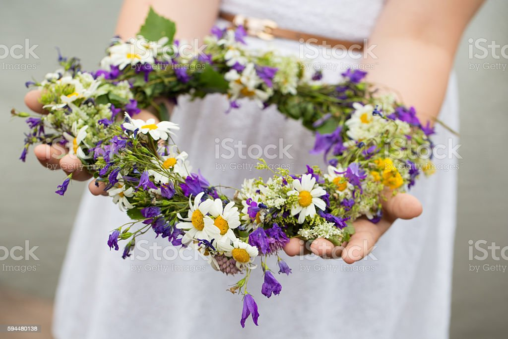 Midsummer in Sweden stock photo
