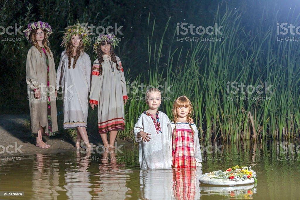Midsummer night's divination stock photo