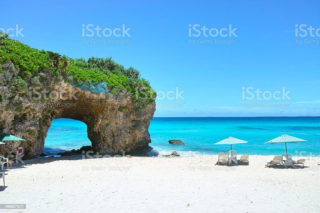 Midsummer Sunayama beach stock photo