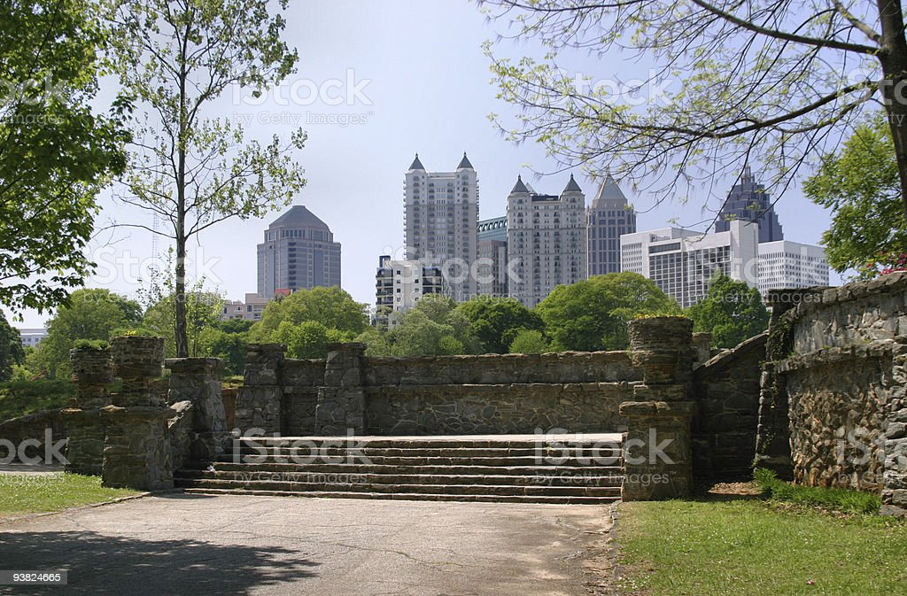 Midtown Atlanta Old and New stock photo