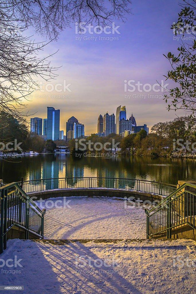 Midtown Atlanta Sunset stock photo