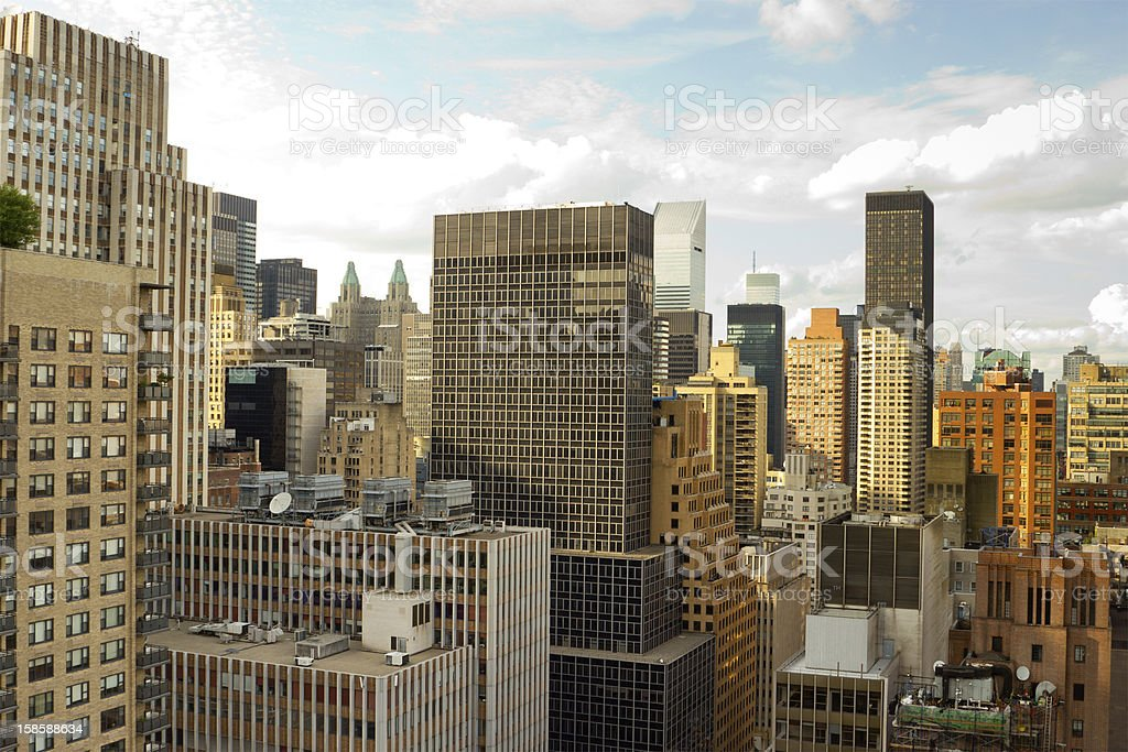 Midtown East Side rooftops, New York stock photo