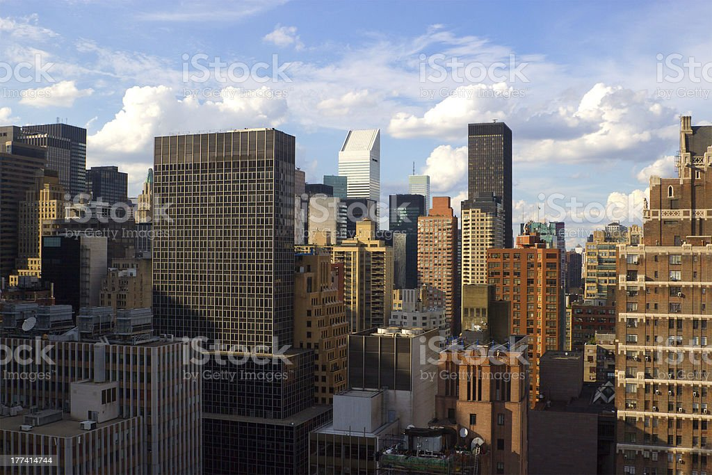 Midtown East Side rooftops, NYC stock photo