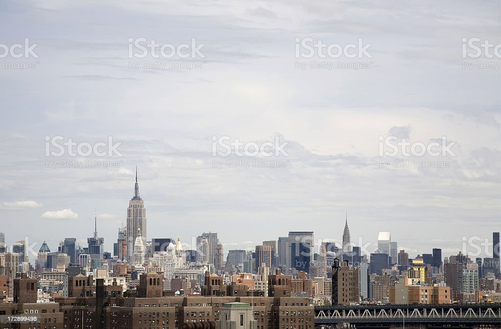 Midtown Manhattan and Projects royalty-free stock photo