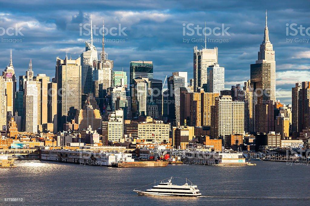 Midtown Manhattan at Dusk, New York City stock photo