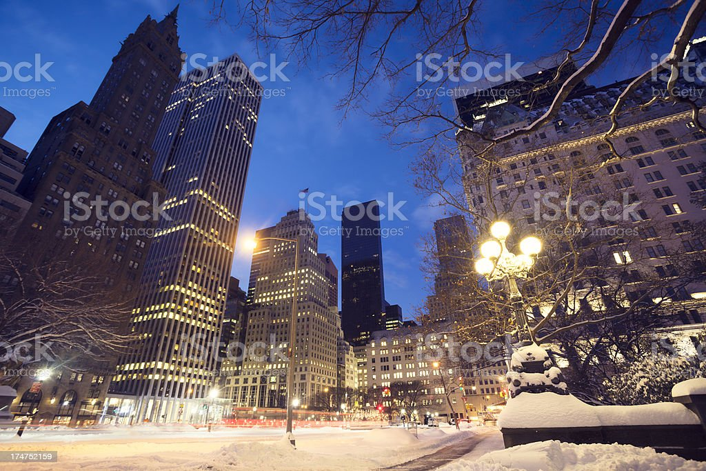 NYC Midtown Manhattan at winter royalty-free stock photo