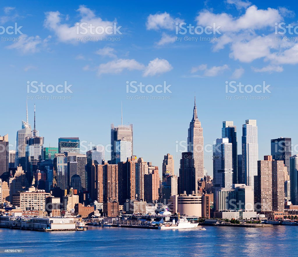 Midtown Manhattan City Skyline New York USA royalty-free stock photo