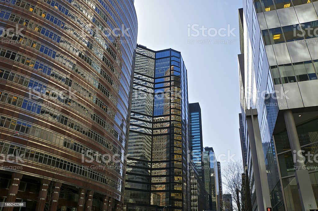 Midtown Manhattan Cityscape, Postmodern architectural styles, New York City stock photo