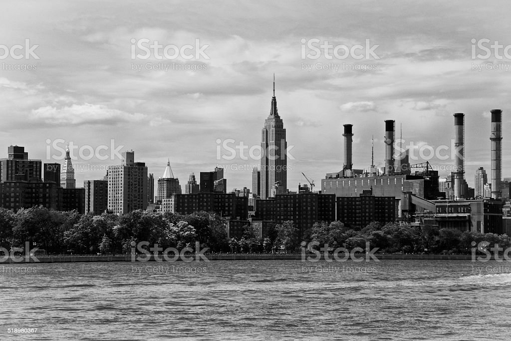 Midtown Manhattan Cityscape seen from Brooklyn, New York City stock photo