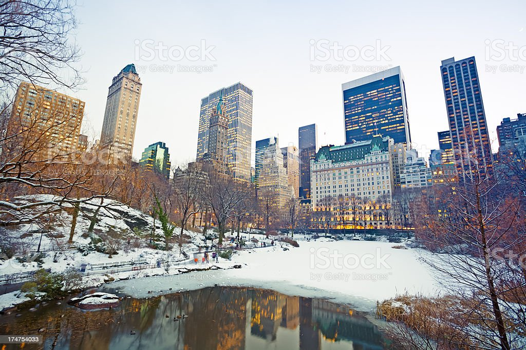 Midtown Manhattan from Central Park at winter royalty-free stock photo
