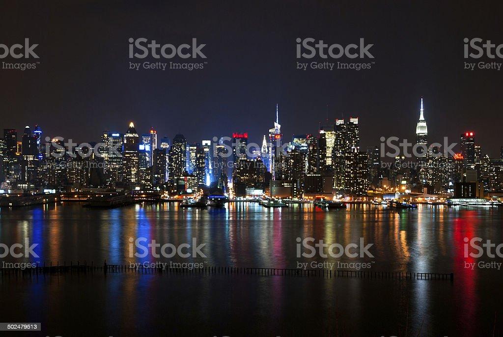 Midtown Manhattan from Jersey stock photo