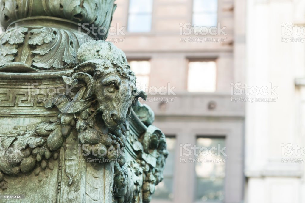 NYC Midtown Manhattan Historic Beaux Arts Architectural Detail stock photo