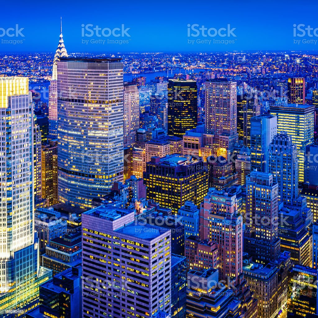 Midtown Manhattan, New York City, USA stock photo