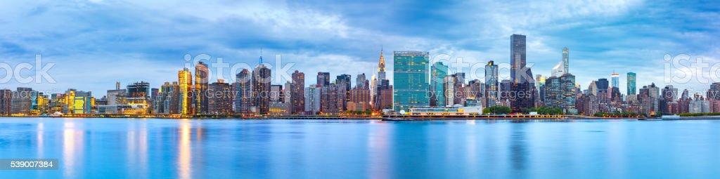 Midtown Manhattan panorama stock photo