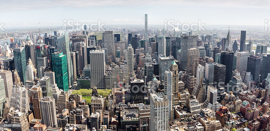 Midtown Manhattan panorama stock photo