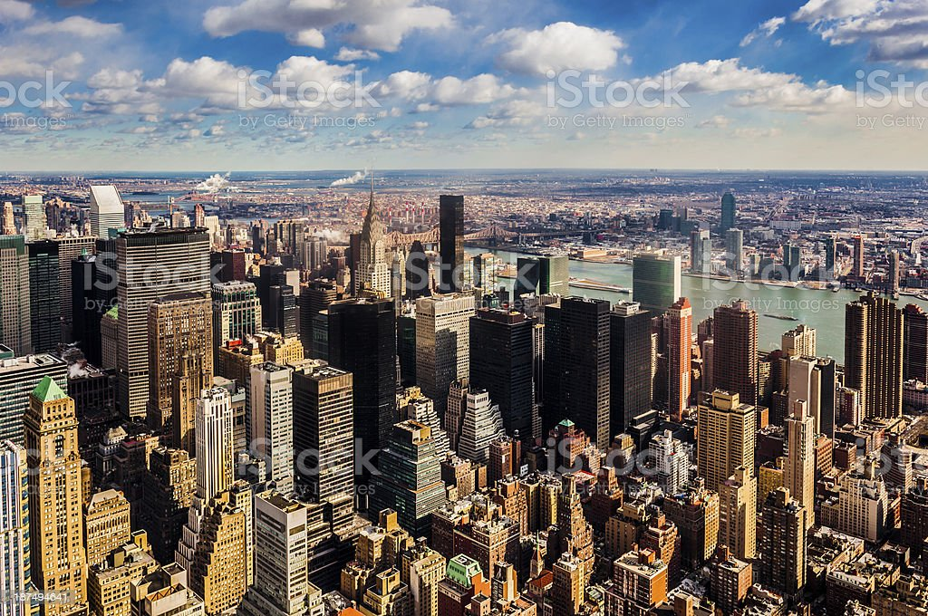 Midtown Manhattan royalty-free stock photo