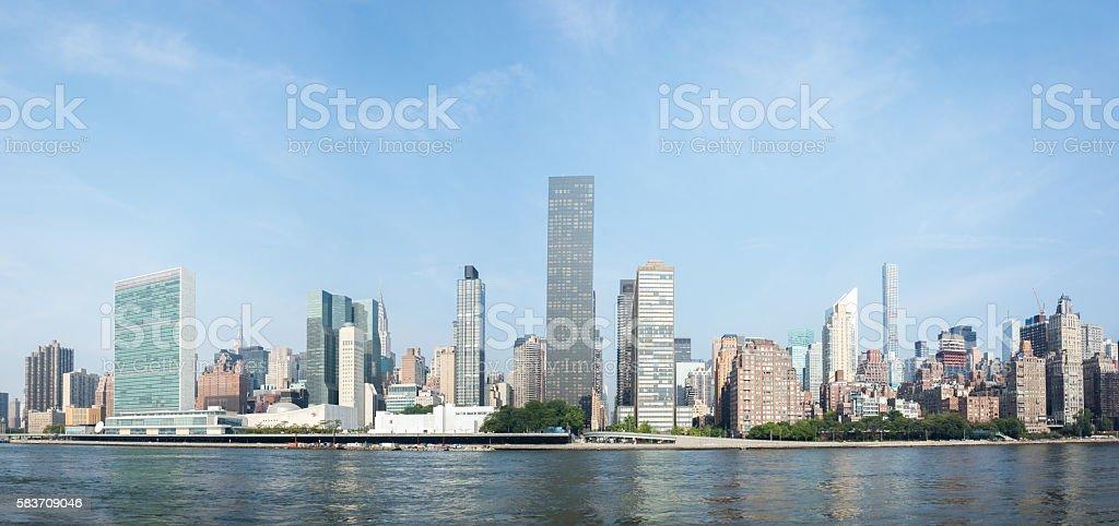 Midtown Manhattan skyline as seen from Roosevelt Island stock photo