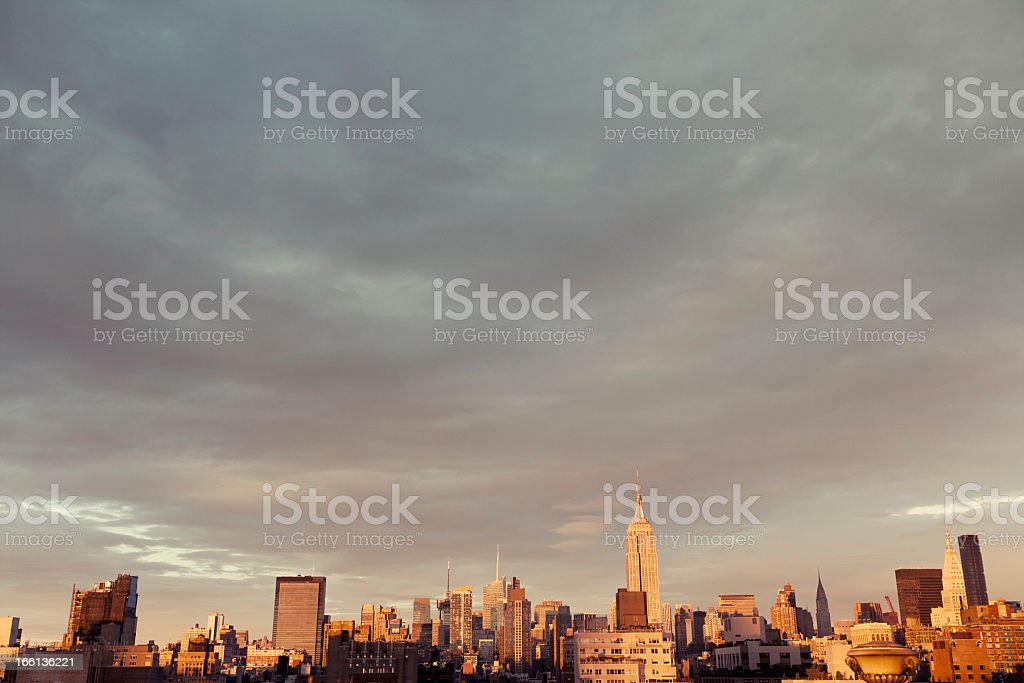 Midtown Manhattan Skyline Empire State Building royalty-free stock photo