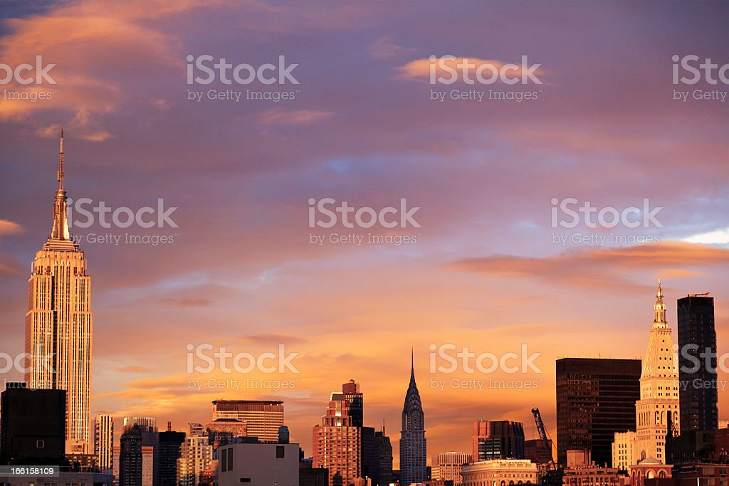 Midtown Manhattan Skyline Empire State Building royalty-free stock photo