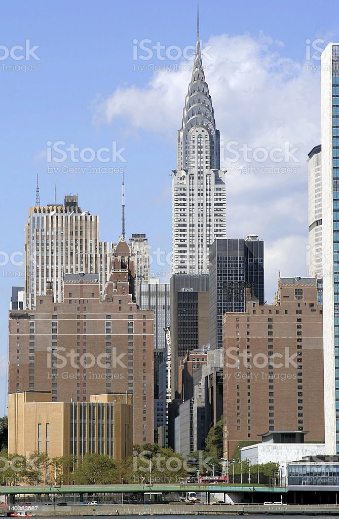 Midtown Manhattan skyline royalty-free stock photo