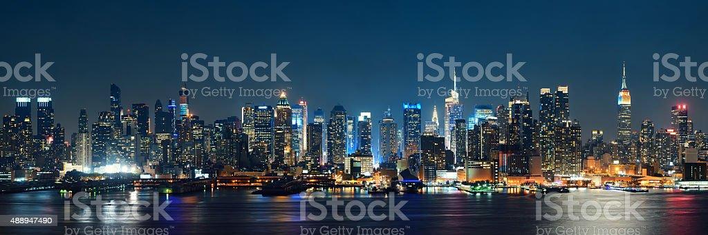 Midtown Manhattan skyline stock photo