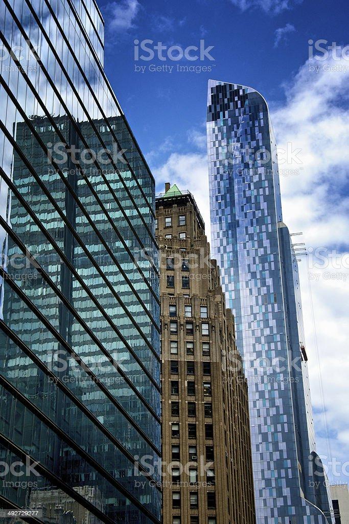 Midtown Manhattan Skyscrapers, Mixed Eras & Styles, New York City royalty-free stock photo
