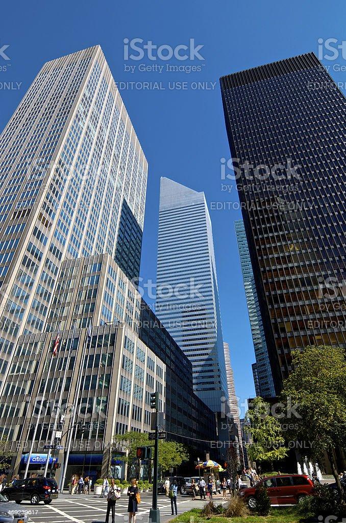 Midtown Manhattan Skyscrapers, People & Street Scene, New York City royalty-free stock photo
