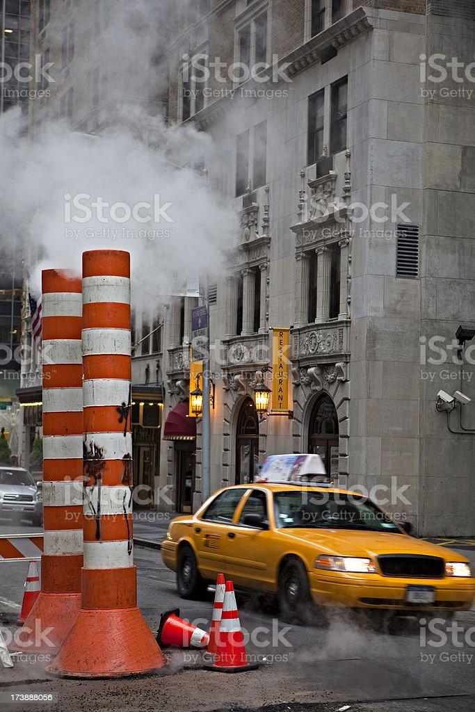 Midtown Manhattan Taxi royalty-free stock photo