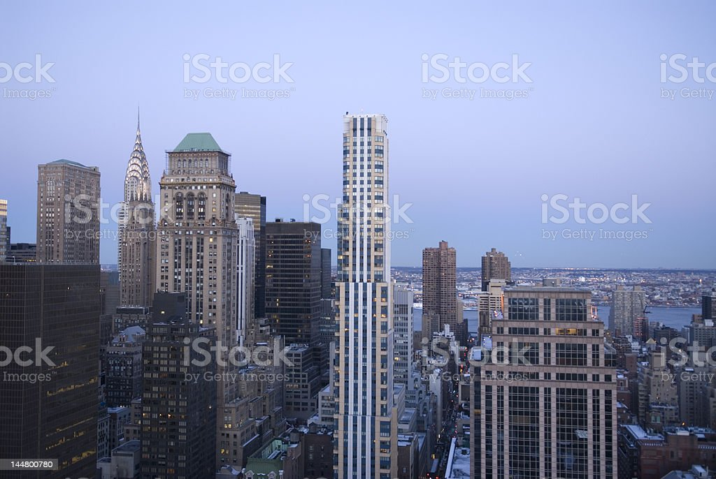 Midtown Manhattan with Chrysler Building royalty-free stock photo