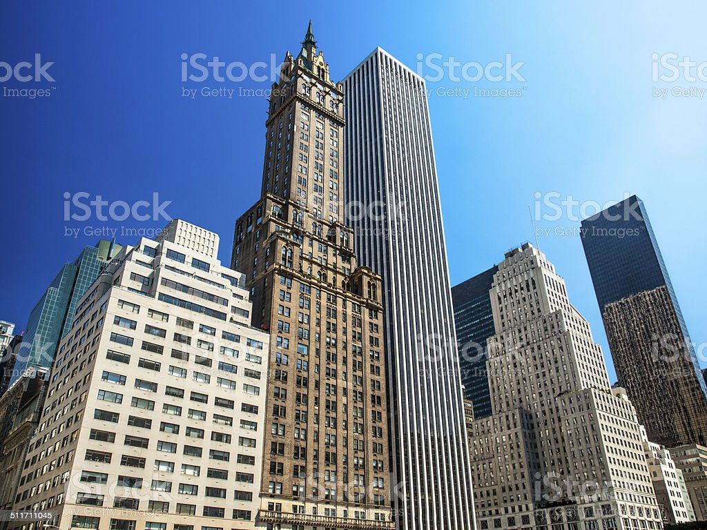 Le quartier de Midtown, à New York City photo libre de droits