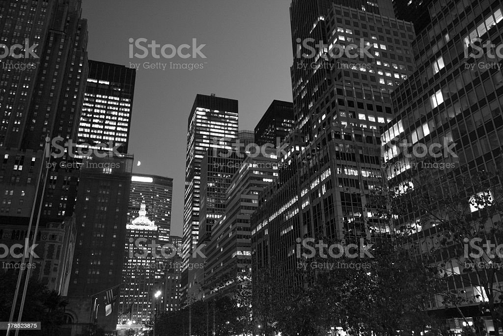 midtown NYC dusk - Summer 2012 royalty-free stock photo