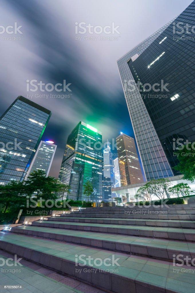 midtown of Hong Kong city stock photo