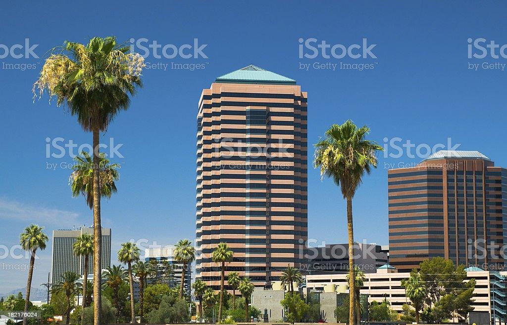 Midtown Phoenix buildings royalty-free stock photo