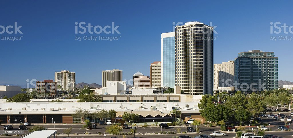 Midtown Phoenix skyline royalty-free stock photo
