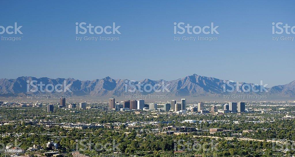 Midtown Phoenix skyline stock photo