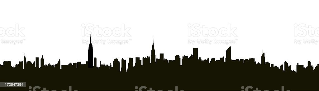 NYC Midtown Skyline stock photo