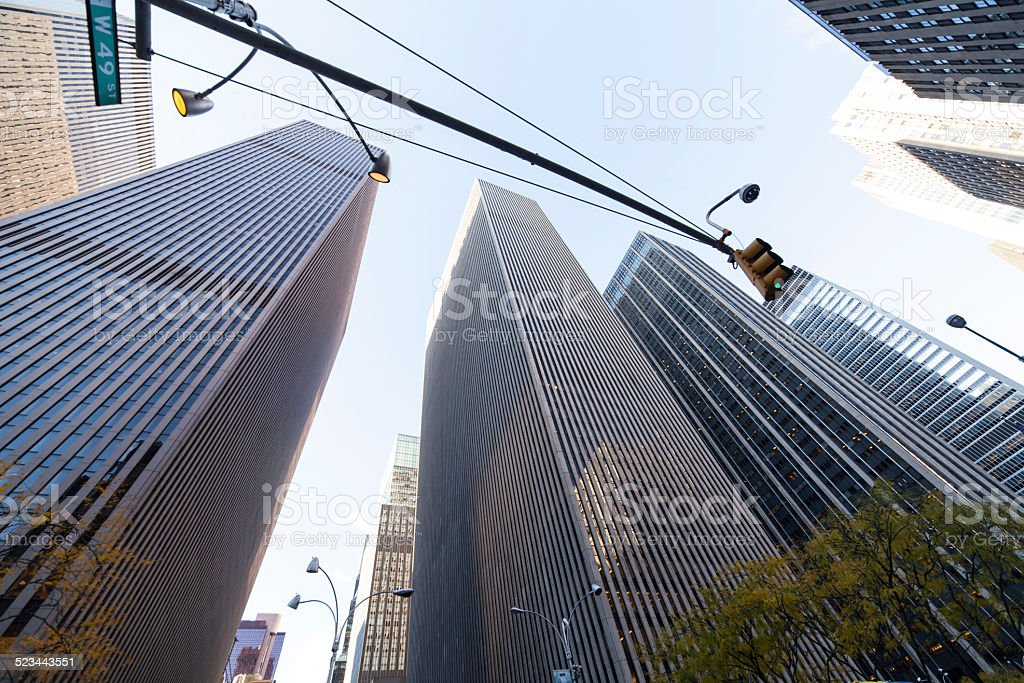 Midtown Towers in NYC Manhattan stock photo