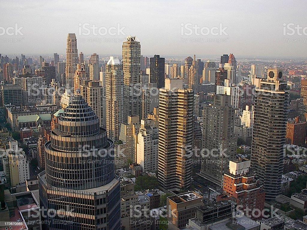 Midtown, Uptown Manhattan royalty-free stock photo