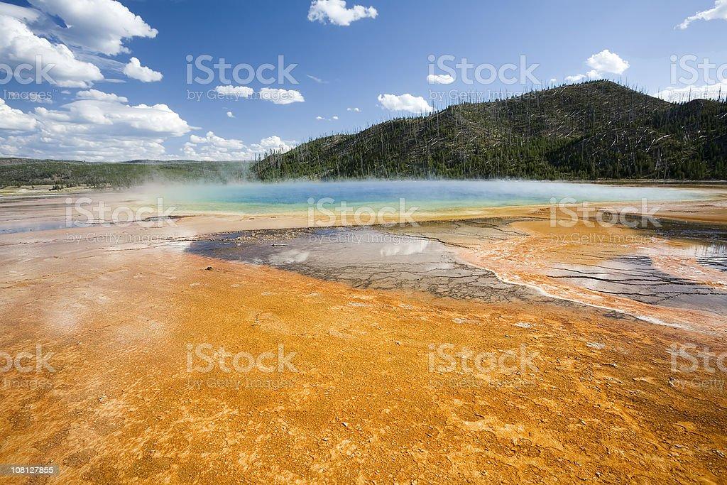 Midway Geyser Basin, Yellowstone stock photo