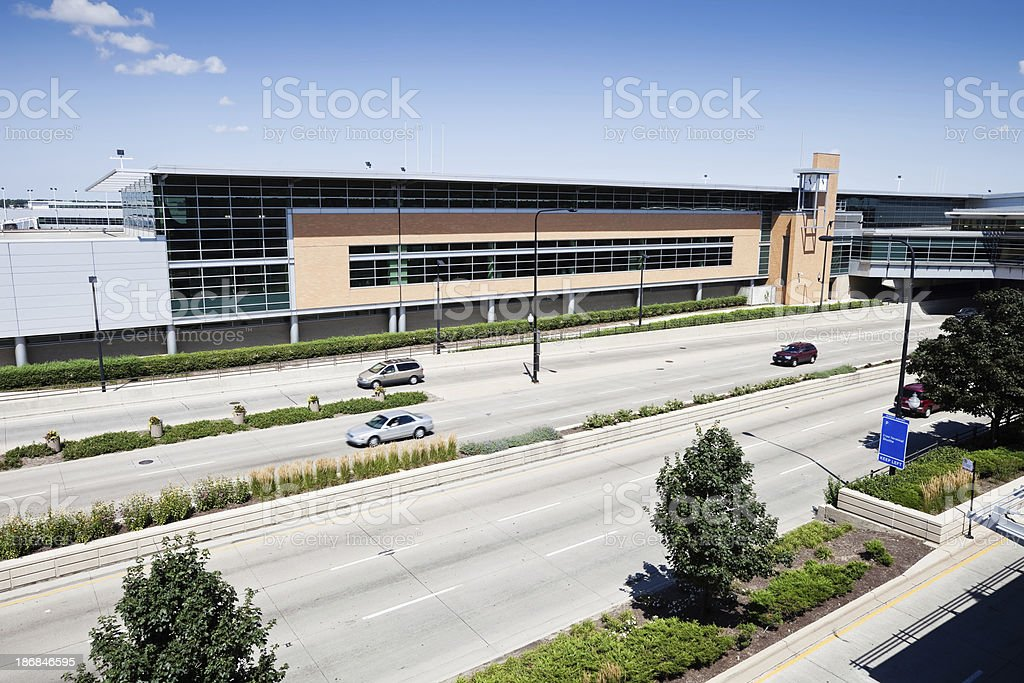 Midway International Airport Terminal Building, Chicago stock photo