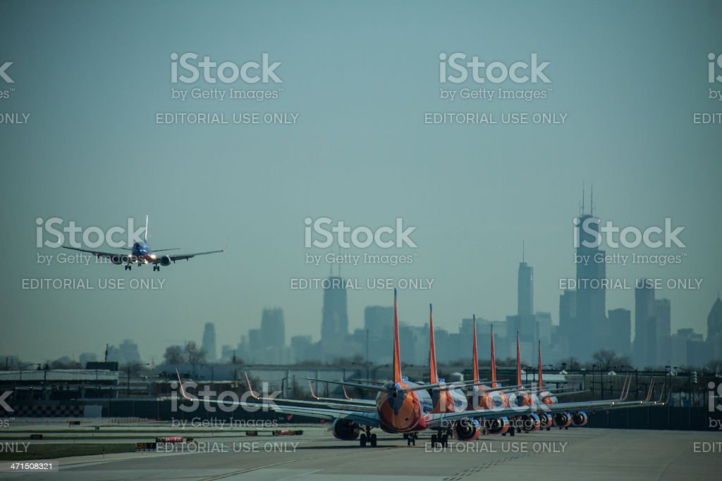 Midway Morning Rush stock photo
