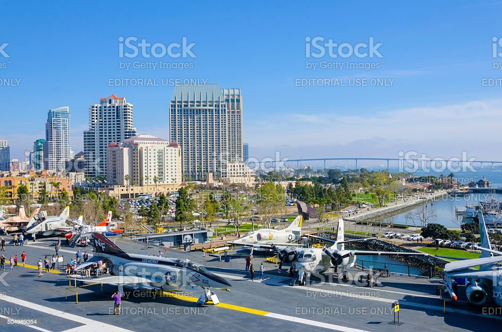 USS Midway Museum, San Diego stock photo