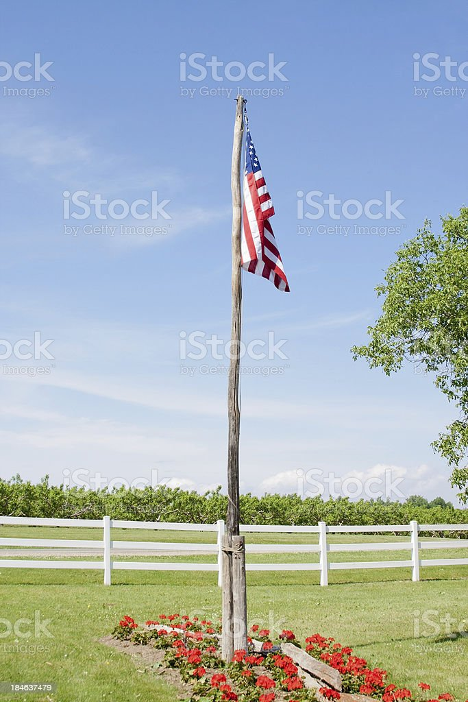 Midwest American Flag stock photo