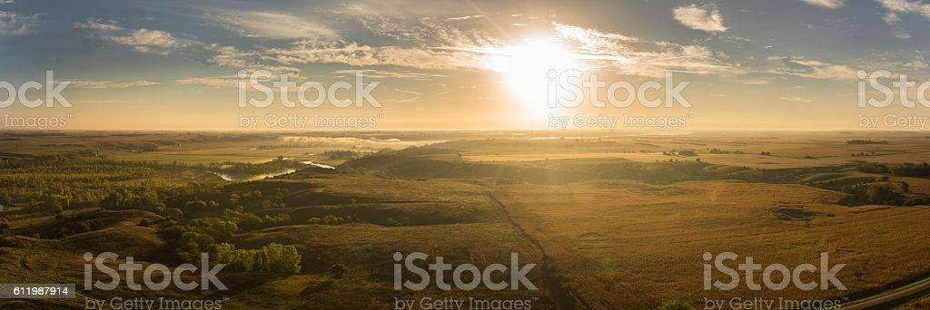Midwest Autumn Sunrise stock photo