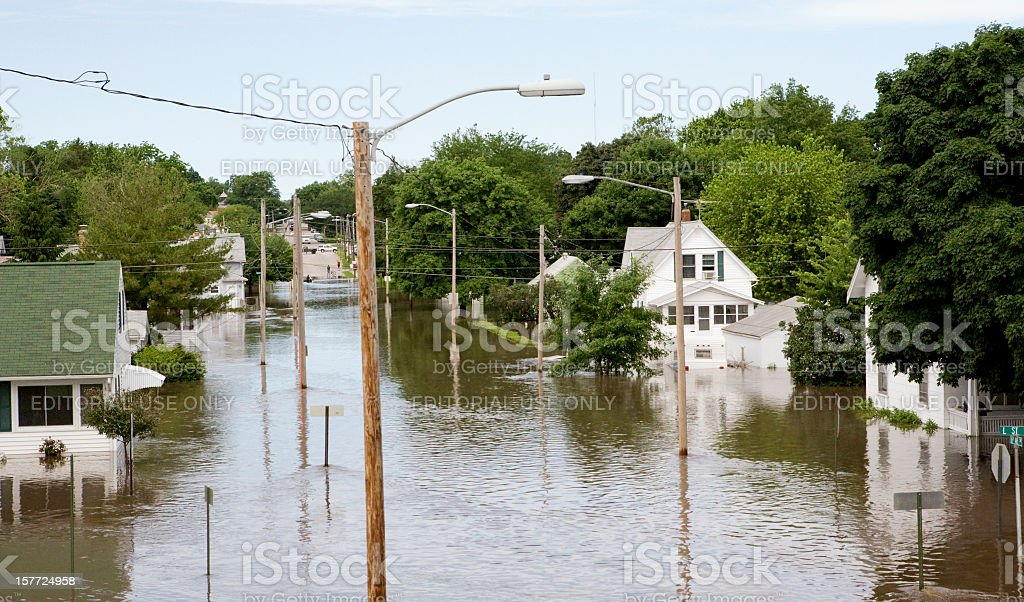Midwest Flood stock photo