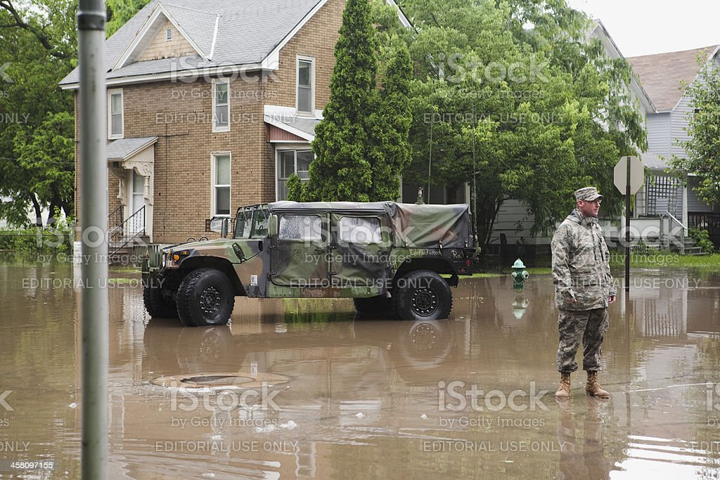 Midwest Flood stock photo