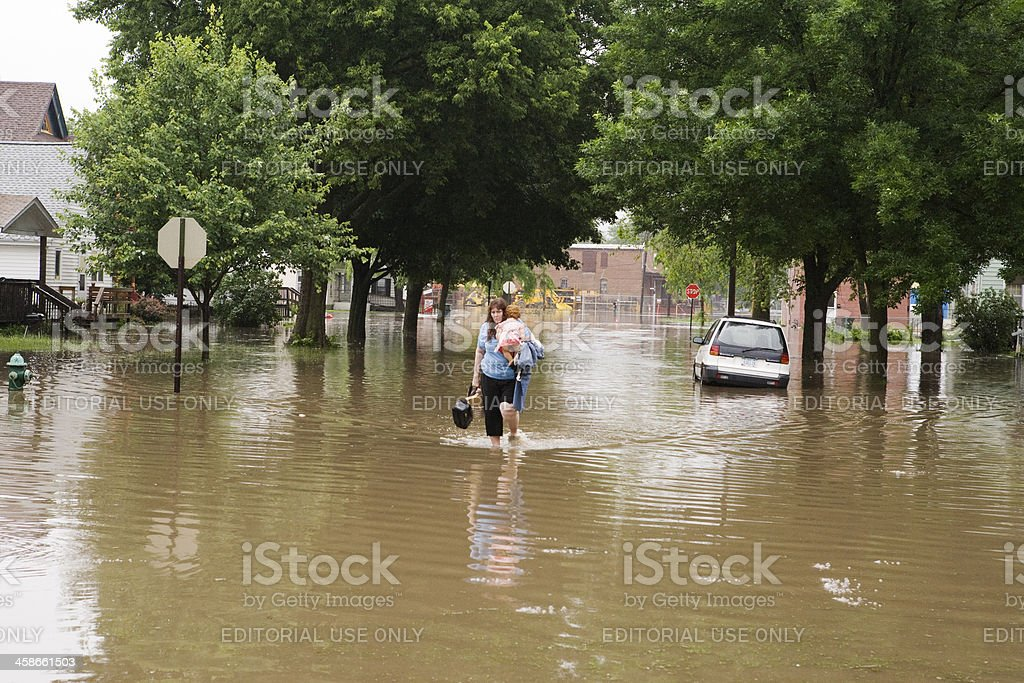 Midwest Flood Victim stock photo