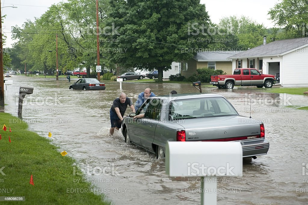 Midwest Flood Victims royalty-free stock photo