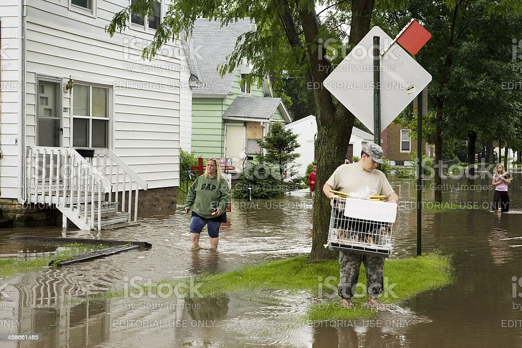 Midwest Flood Victims stock photo